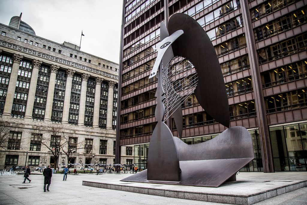 Pablo Picasso's sculpture of his Afghan Hound, Kabul, at Chicago