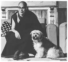 Lhasa Apso with dalai lama
