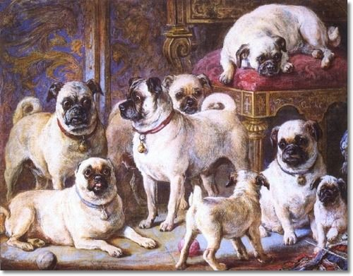 Queen Victoria and her pugs