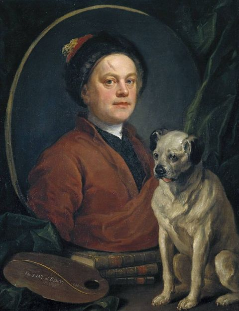 The Painter and his Pug, William Hogarth
