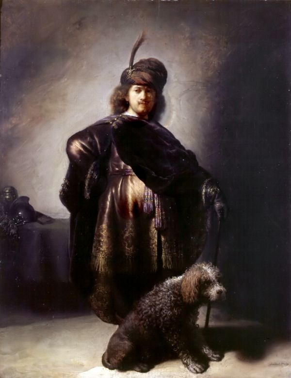 An Old Painting of a Poodle